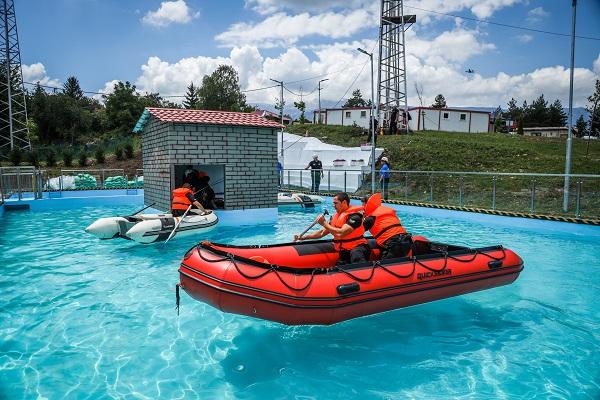 Проведе се учение за реакция при наводнения на полигона на Столична община