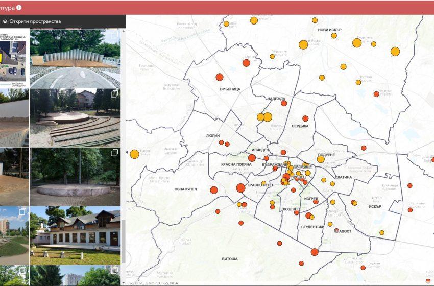 Онлайн карта на местата за култура на София включва 100 открити пространства